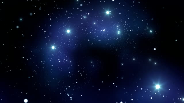 Endless Stars, flying through space. Looped animation. HD 1080. video