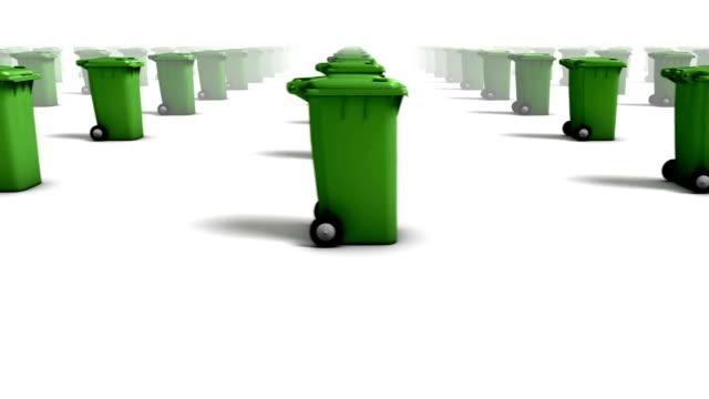 Endless Trashcans side view loop (Green) video