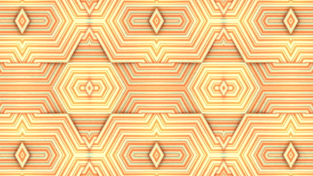 Endless triangle striped background. Kaleidoscopic digital seamless loop animation. 3d rendering. 4K, UHD resolution