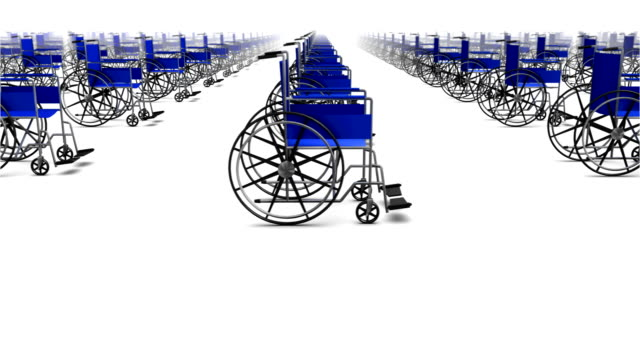 Infinitas silla de ruedas, vista lateral de bucle - vídeo