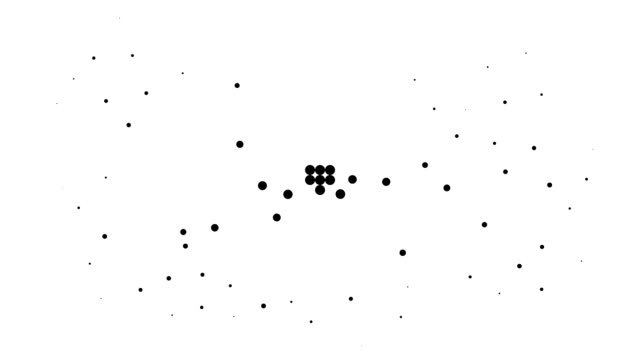 CIRCLE - energetic field, pure black dots (TRANSITION)