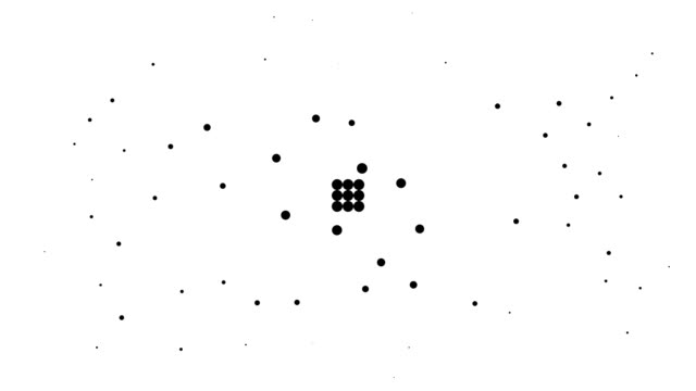 RECTANGLE - energetic field, pure black dots (TRANSITION) video