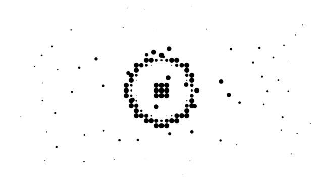 RECTANGLE / CIRCLE - energetic field, pure black dots (LOOP) video