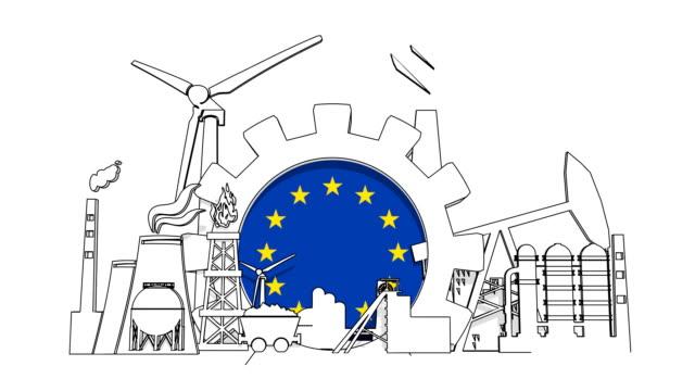 energie und energie - europäische union stock-videos und b-roll-filmmaterial