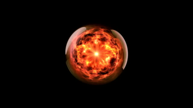 Energy ball 02 fire video