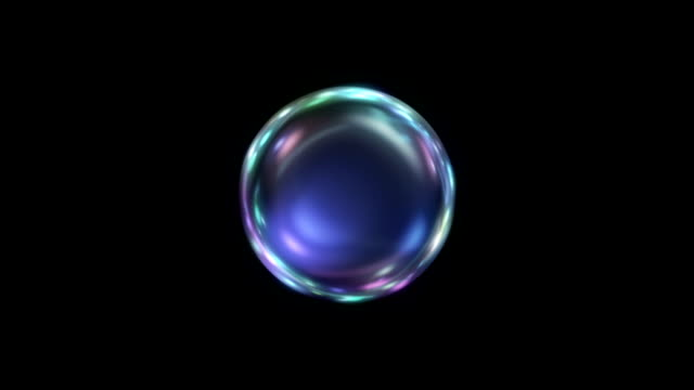 Energy ball colored video