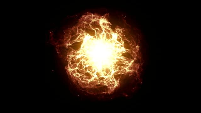 燃えるようなエネルギー ボール効果 - 球形点の映像素材/bロール