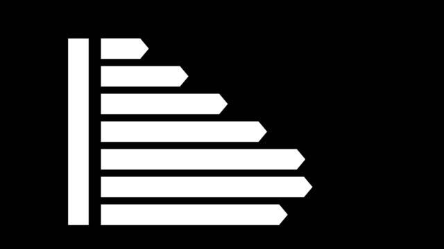 Energy Efficiency Diagram animation with optional luma matte. Alpha Luma Matte included. 4k video