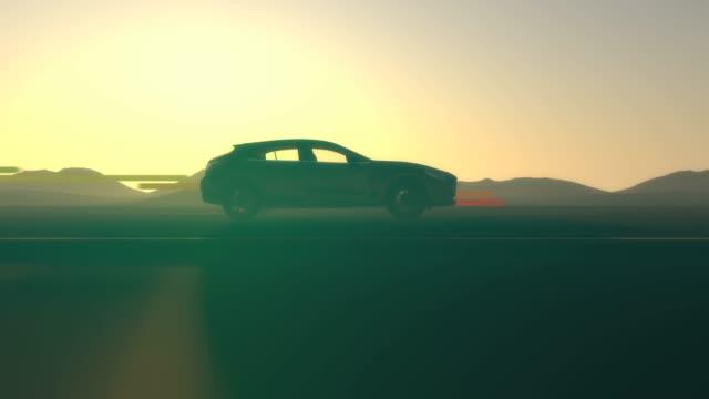 エネルギー効率の評価。車のコンセプト。 - 電気自動車点の映像素材/bロール