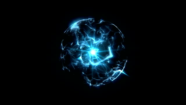 Energy or plasma ball blue video