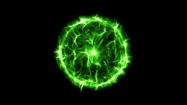 Energy or plasma ball new green video