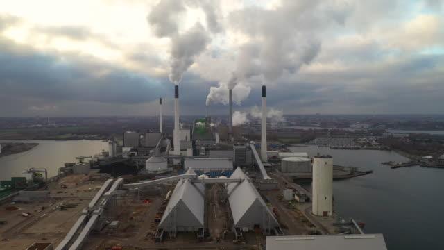 energy plant - биомасса возобновляемая энергия стоковые видео и кадры b-roll