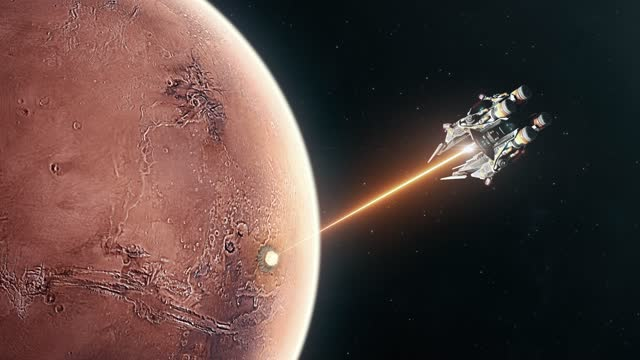Energy Weapon Creating Large Explosions on the Surface of Mars for Terraforming video