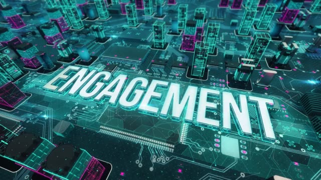 Engagement with digital technology concept