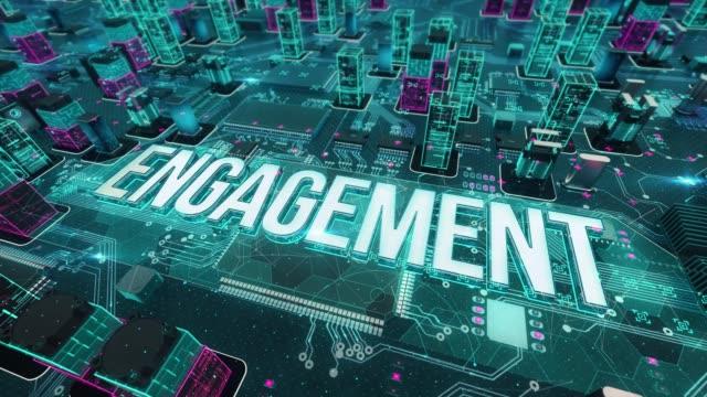 vídeos y material grabado en eventos de stock de compromiso con el concepto de tecnología digital - prometido