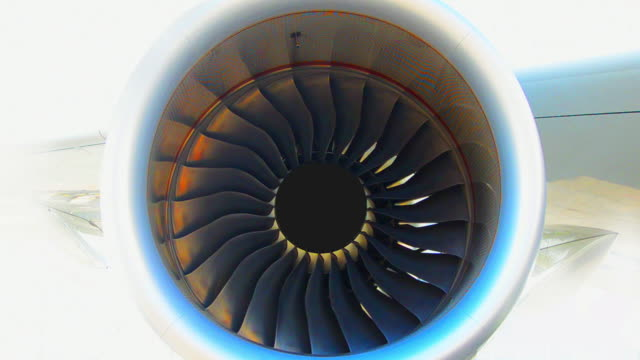 Engine aircraft Engine aircraft rotate slowly turbine stock videos & royalty-free footage