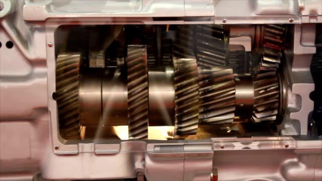 engine gears engine gears crank mechanism stock videos & royalty-free footage