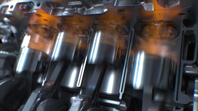 Engine pistons Engine pistons, Valve and crankshaft are working, Car Engine inside, Piston ignition time. biofuel stock videos & royalty-free footage