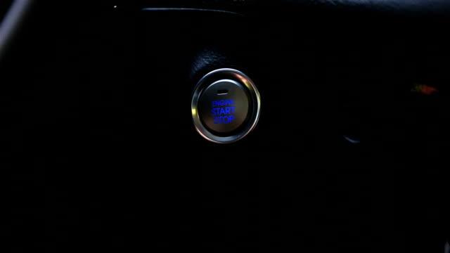 vídeos de stock, filmes e b-roll de motor botão start - inauguração