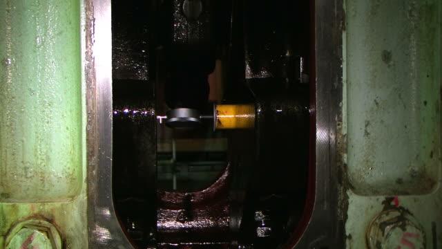 Engine Ship engine maintenance. crank mechanism stock videos & royalty-free footage