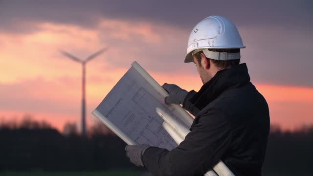 Engineer and Wind Turbine video