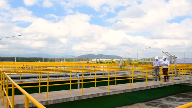 Engineer checking water treatment plant