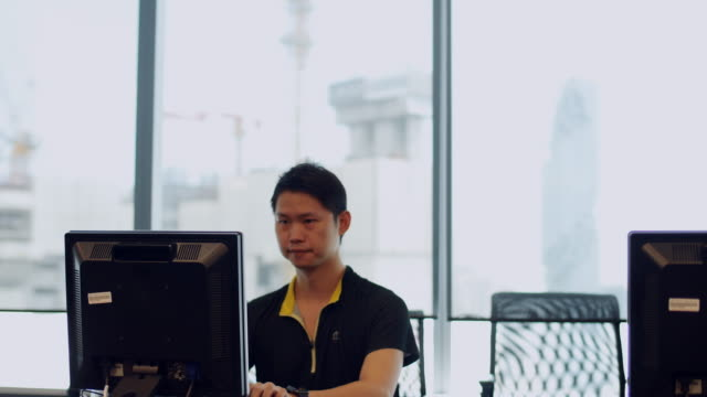 Engineer Working On A Computer video
