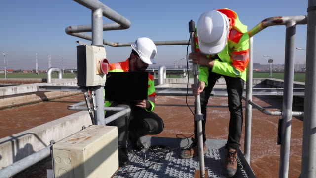 Engineers working on water treatment plant