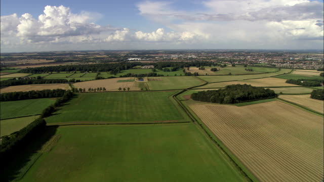 English Countryside - Aerial View - England, Nottinghamshire, Bassetlaw, United Kingdom video