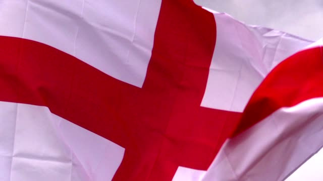 English flag in the wind video