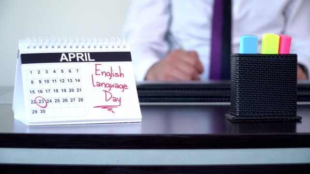 engelska språket dag - speciella dagar - calendar workout bildbanksvideor och videomaterial från bakom kulisserna
