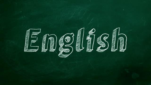 Conceito de aprendizagem de inglês - vídeo