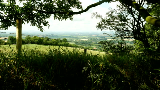 English Midlands view over Worcestershire Plain. video