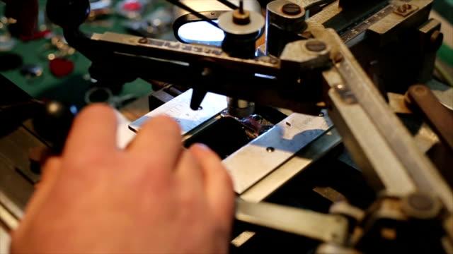 Engraving video