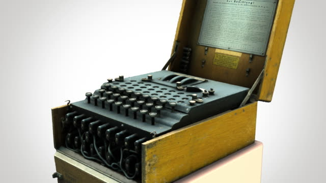 Enigma machine - rotation zoom-out video