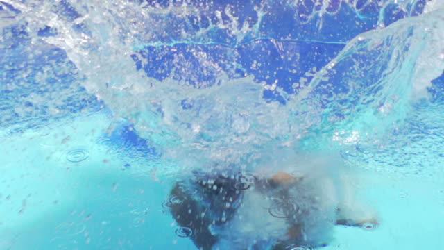 Enjoy Swimming Pool : HD Slow motion video