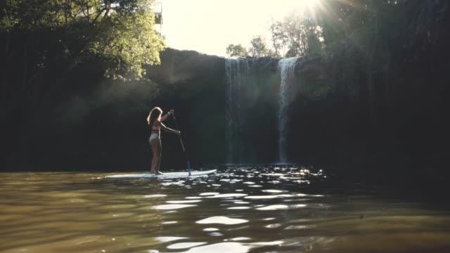 Enjoying a breathtaking paddle video