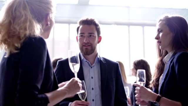 Enjoying during business negotiations video