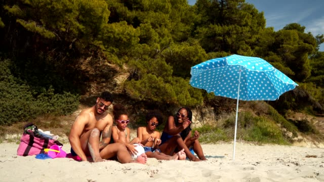 Enjoying summer vacation on the beach