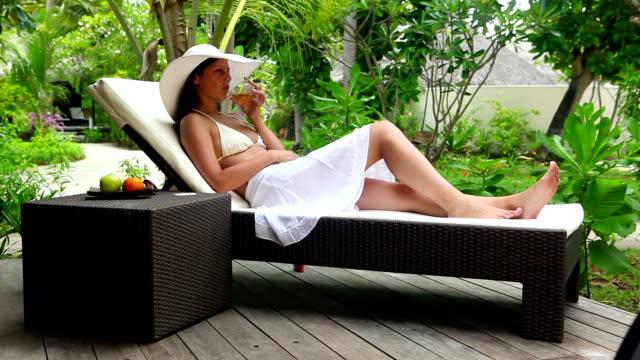 Enjoying sun and wine video