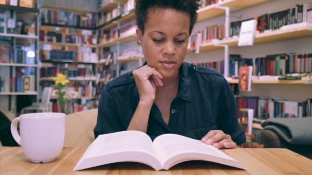 Enjoying the favorite book. video