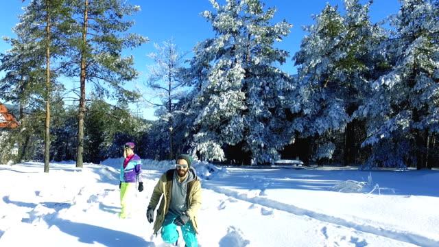 Enjoyment on snow video