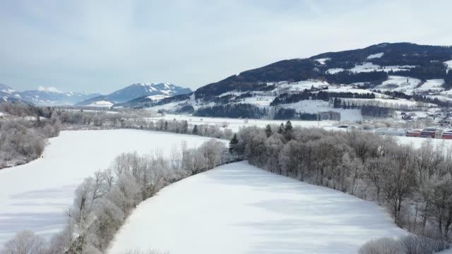 ennstal, styria, avusturya kış aylarında - styria stok videoları ve detay görüntü çekimi