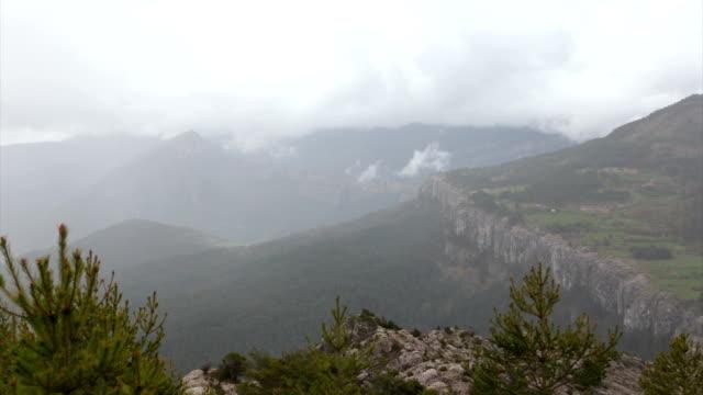 ensija mountain range in  catalonia. - lleida stok videoları ve detay görüntü çekimi