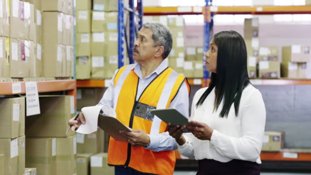 ensuring business operations run smoothly - ricevere video stock e b–roll