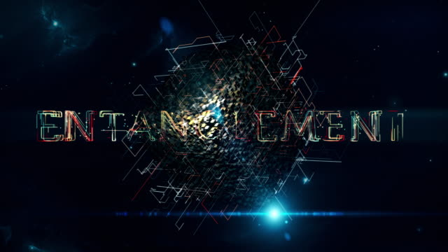 "Entanglement Cube An animation with a rotating matrix cube and the words ""Entanglement"" complexity stock videos & royalty-free footage"