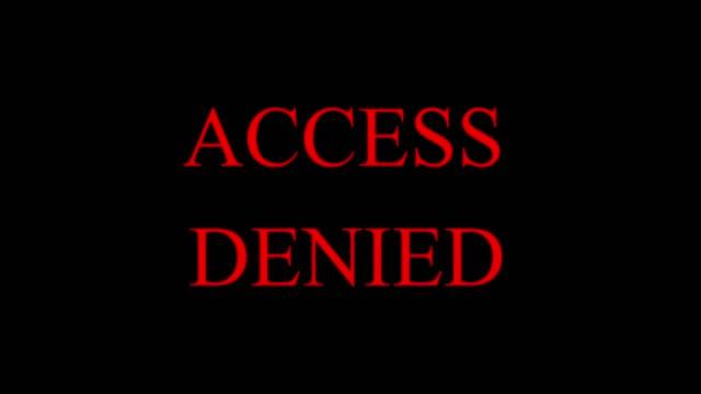 enter password with access denied message - negacja filmów i materiałów b-roll