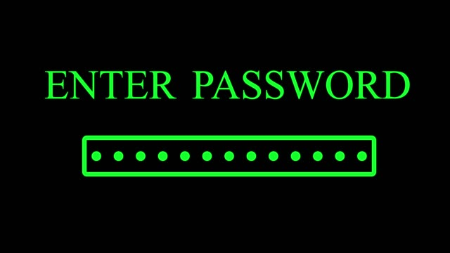 enter password with access granted message - comparsa video stock e b–roll