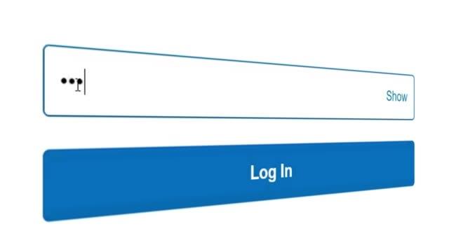 インターネットで web サイトのパスワードを入力する - パスワード点の映像素材/bロール