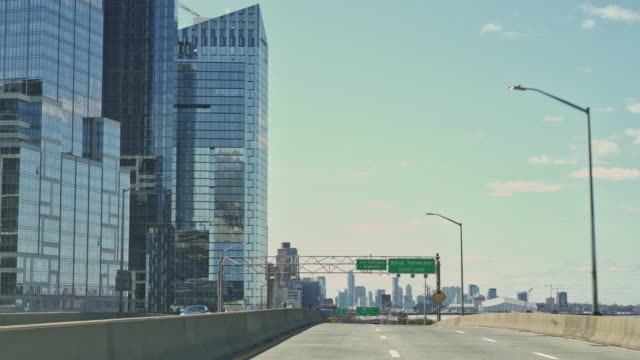 Entering Manhattan by Henry Hudson Parkway, unusually eserted because of travel restrictions during coronavirus pandemic.
